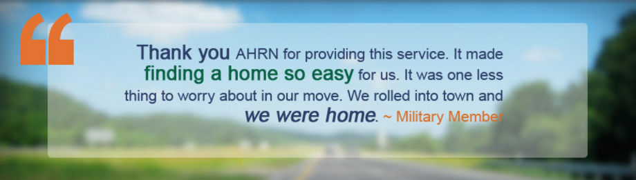 AHRN Quote - Thank you AHRN - Military Members